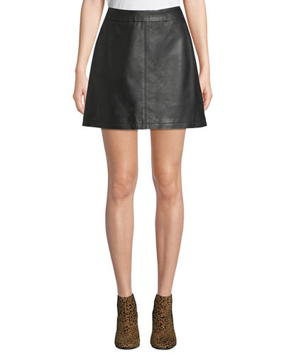 Marrie Leather Mini Skirt