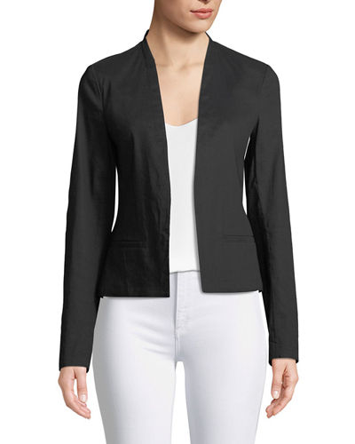 Clean Crunch Wash Open-Front Blazer
