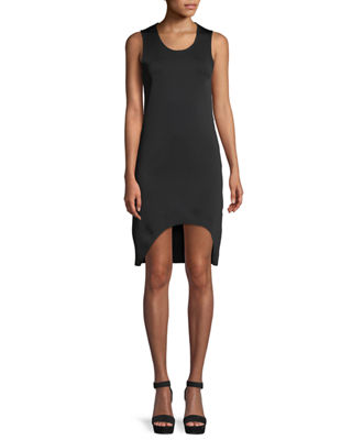 Helmut Lang Scoop-Neck Sleeveless Asymmetric Tank Dress