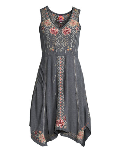 Katrina Embroidered Swing Dress