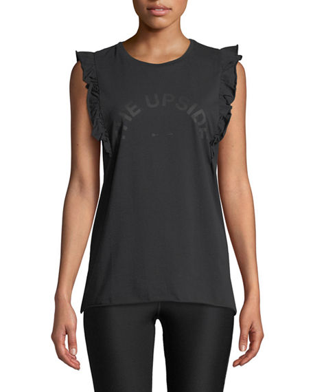 The Upside SCOOP-NECK GRAPHIC FRILL MUSCLE TANK