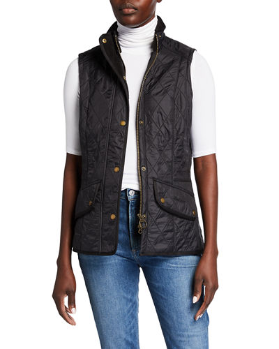 Diamond-Quilted Cavalry Gilet