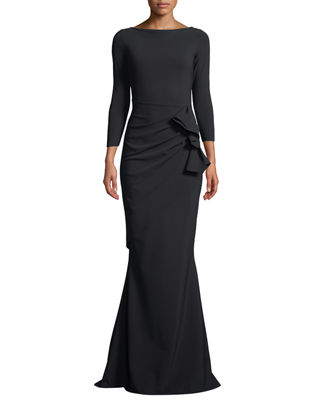 Chiara Boni La Petite Robe Zelma Side-Draped Mermaid
