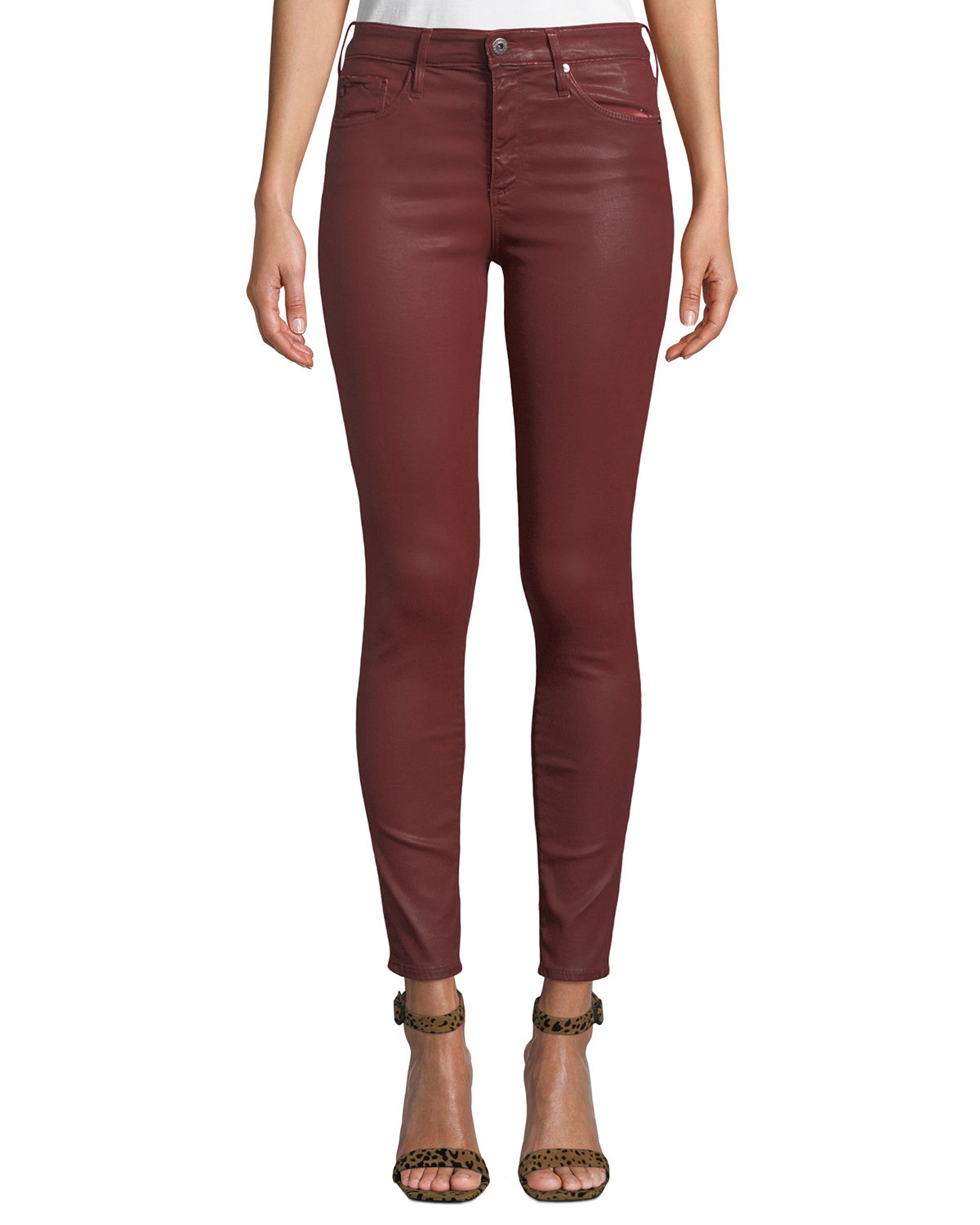 301e27ec2f25 AG Adriano Goldschmied Farrah Sateen High-Rise Ankle Skinny Jeans ...