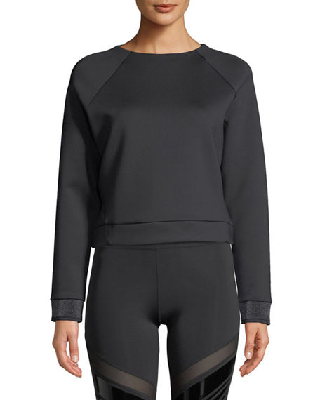 Nylora Zadie Open-Back Cropped Pullover Top