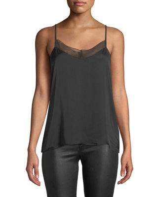 7 for all mankind V-Neck Cami with Contrast