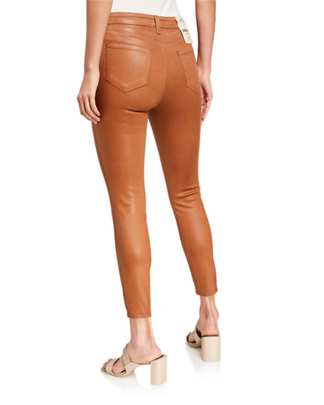 Image 2 of 2: L'Agence Margot High-Rise Coated Skinny Jeans