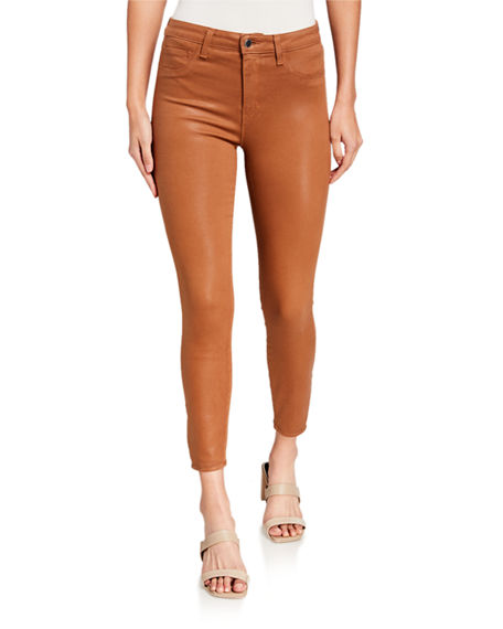 Image 1 of 2: L'Agence Margot High-Rise Coated Skinny Jeans