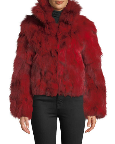 784f0e78c417 Quick Look. Adrienne Landau · Stand-Collar Fox Fur Jacket