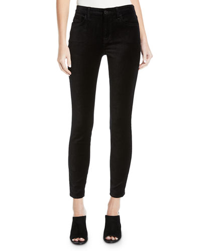 The Ankle Velvet Skinny Pants