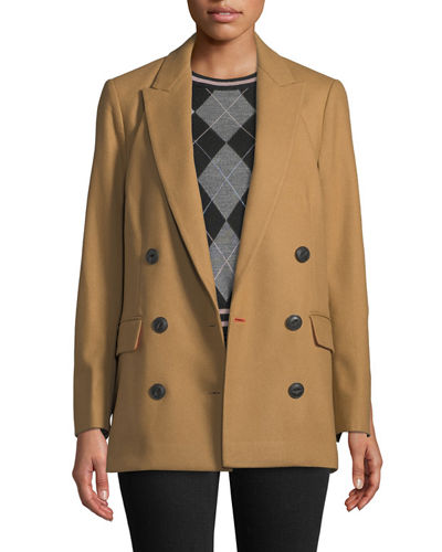 Ellie Oversized Double-Breasted Wool Blazer