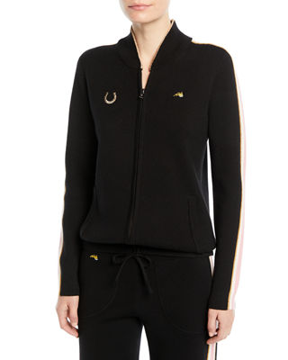Bella Freud Race Track Zip-Up Track Jacket with