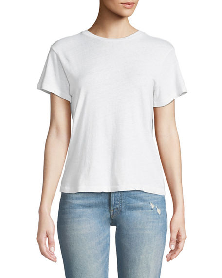 RE/DONE x Hanes Classic Crewneck Short-Sleeve Cotton Tee