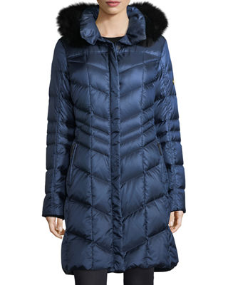 Bogner Fire + Ice Delia Shiny Hooded Quilted