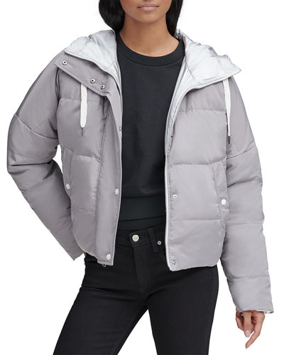 Luna Lightweight Reversible Metallic Down Jacket