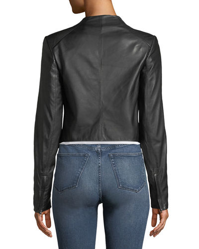 Crossover Paperweight Leather Jacket