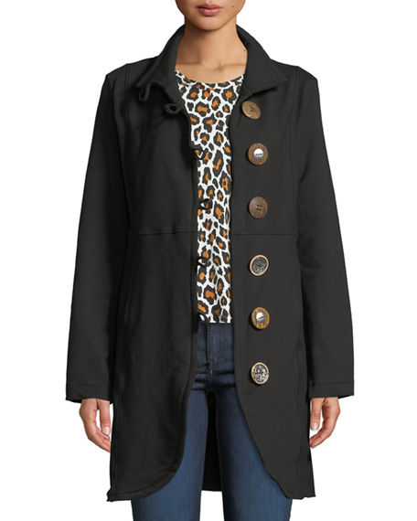 Pure & Co Kaitlyn Oversized-Button Jacket
