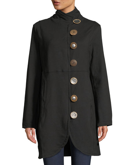 Image 4 of 4: Pure & Co Plus Size Kaitlyn Oversized-Button Jacket