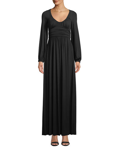 Mallory Scoop-Neck Maxi Dress, Plus Size