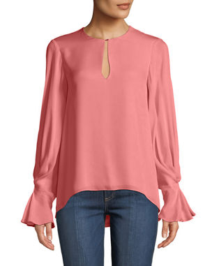 867a6be0e505a3 Joie Abekwa Long-Sleeve Silk Top