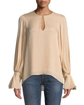 Sale alerts for  Abekwa Long-Sleeve Silk Top - Covvet