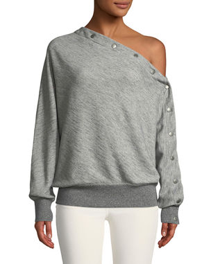 7b8a1c3aefc174 Rag   Bone Kate One-Shoulder Snap-Up Pullover Top