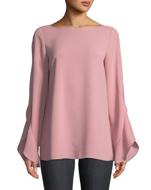 b5bb2a817355f Lafayette 148 New York Emory Finesse Crepe Blouse