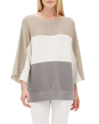 Oversized Cotton Cashmere Dolman Pullover