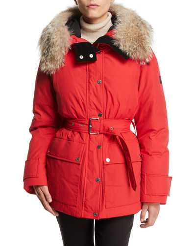 Dawlby Waterproof Down Jacket w/ Fur Trim
