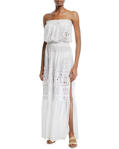 Isadora Cotton-Silk Strapless Coverup Dress