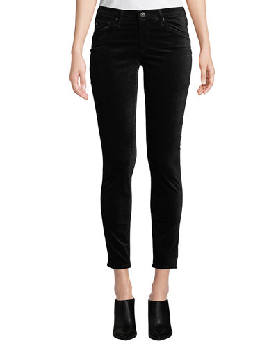 AG The Legging Velvet Ankle Skinny Pants