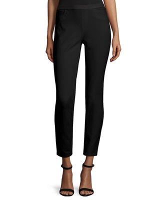 Lafayette 148 New York Elastic-Waist Slim-Leg Ankle Pants