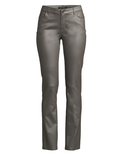 Thompson Frosted Denim Slim-Leg Jeans