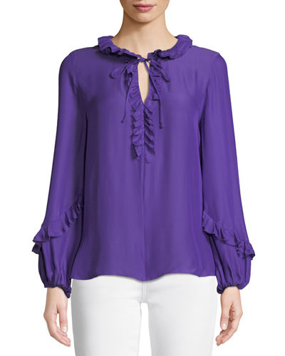 735042e443ee6 Purple Imported Blouse