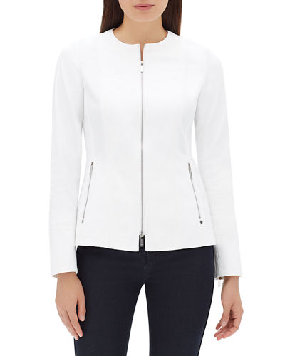Janella Long-Sleeve Zip-Front Fundamental Bi-Stretch Jacket