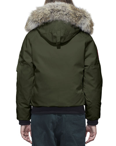 Canada Goose Chilliwack Down Bomber Jacket w/ Fur Hood