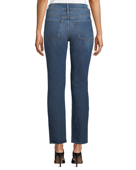 Image 2 of 2: FRAME Le Sylvie High-Rise Straight-Leg Ankle Jeans