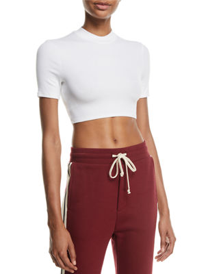 TWENTY Mackay Fitted Crewneck Cropped Tee in White