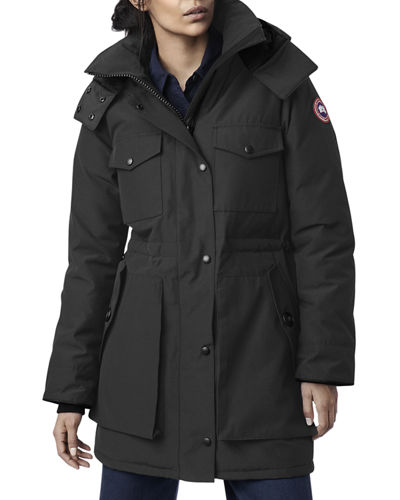 Gabriola Hooded Parka Coat w/ Reflective Back