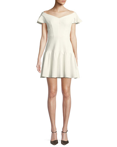 db4f60cb87cd Quick Look. Rebecca Taylor · Textured Off-the-Shoulder Mini Dress.  Available in White