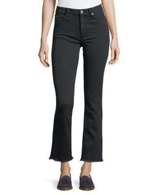 MiH Daily High-Rise Straight-Leg Jeans with Raw Hem