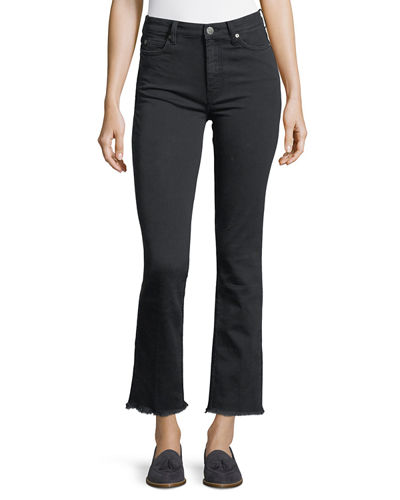 Daily High-Rise Straight-Leg Jeans with Raw Hem