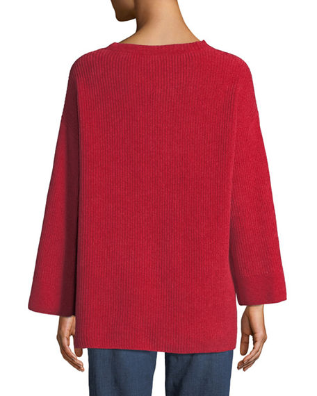 EILEEN FISHER Cottons ORGANIC COTTON CHENILLE TUNIC SWEATER