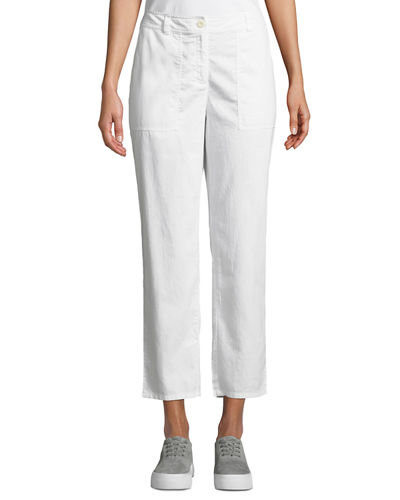99b6efcc2cc Quick Look. Eileen Fisher · Plus Size Soft Organic Twill Cropped Taper Pants