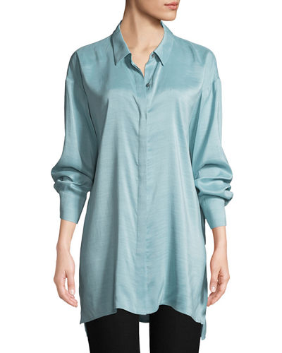 Silk Doupioni Long Shirt