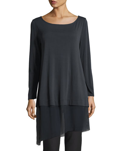 ade069f6fd561 Eileen Fisher Gray Petite Top