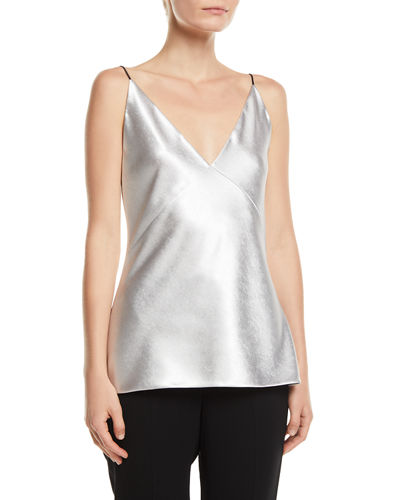 V-Neck Satin Bias Cami