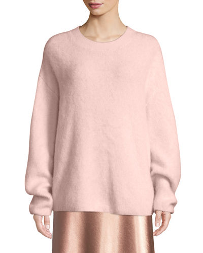 Oversized Funnel-Neck Pullover Sweatshirt