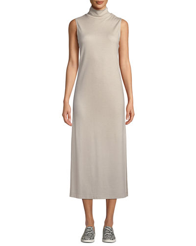 09479c8d37d Quick Look. Vince · Wool-Blend Sleeveless Turtleneck Long Dress