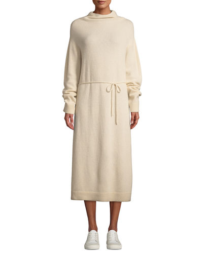 Wool-Cashmere Turtleneck Long Dress